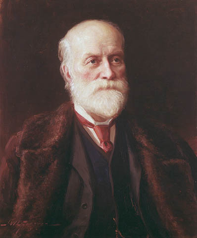 """Sir Sandford Fleming"" autorstwa John Wycliffe Lowes Forster (1850-1938) - This image is available from Library and Archives Canada under the reproduction reference number C-001652 and under the MIKAN ID number 2895065This tag does not indicate the copyright status of the attached work. A normal copyright tag is still required. See Commons:Licensing for more information.Library and Archives Canada does not allow free use of its copyrighted works. See Category:Images from Library and Archives Canada.. Licencja Domena publiczna na podstawie Wikimedia Commons - https://commons.wikimedia.org/wiki/File:Sir_Sandford_Fleming.jpg#/media/File:Sir_Sandford_Fleming.jpg"