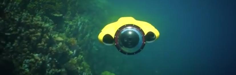 Dron dla nurków | źródło: YouTube/iBubble camera - https://www.youtube.com/watch?v=v8hBZQ68ccE