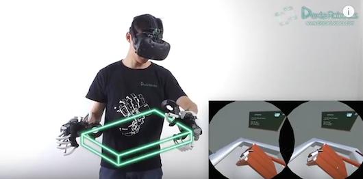 Rękawice do wirtualnej rzeczywistości | Źródło: YouTube/Dexta Robotics https://www.youtube.com/watch?v=Sif7cY8qwjM
