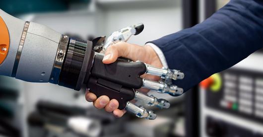 Zmysł dotyku w dłoni robota