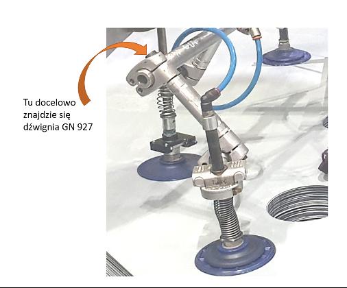 Rys. 3 Zastąpienie śruby pasowanej dźwignią GN 927